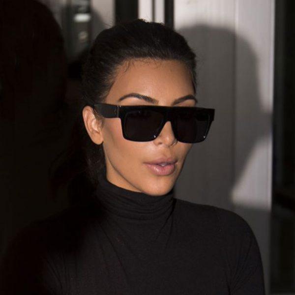 Famous Fashion Trendsetter Kim Kardashian Square Celebrity Italy Sunglasses Lady UV400 Women Men Sun Glasses 50S Female Hot Sale Brand Designer 2