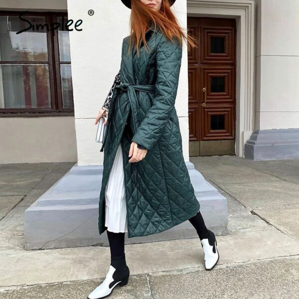 Simplee-Long-straight-winter-coat-with-rhombus-pattern-Casual-sashes-women-parkas-Deep-pockets-tailored-collar-2.jpg